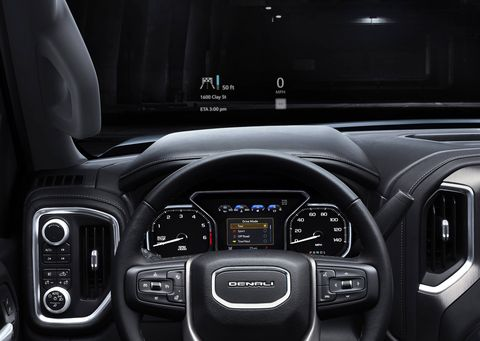 The 2019 GMC Sierra will get open-pore wood as an option for the first time.