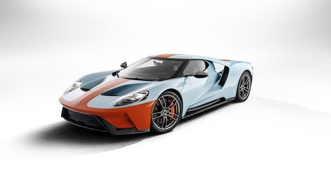 The newest Ford GT Heritage Edition celebrates the company's Le Mans wins with a Gulf Oil color scheme