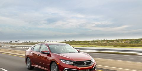 The Honda Civic was already America's best-selling passenger car but Honda fixed it anyway, in small amounts throughout.  Pictured here is the top-of-the-line Sedan Touring.