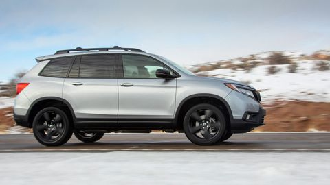The 2019 Honda Passport comes with a 280-hp V6 and all-wheel drive.