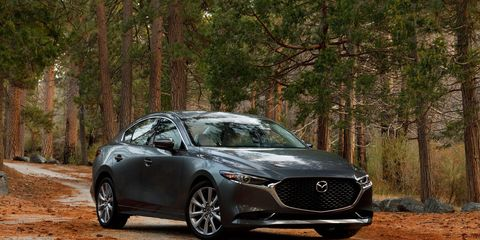 The 2019 Mazda 3 sedan comes with a carryover 2.5-liter four-cylinder making 186 hp.