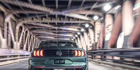 """The 2019 Ford Mustang Bullitt comes with an upgraded V8 with """"at least 475 hp"""" and is available in dark Highland green."""