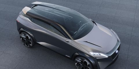 The IMQ concept is a hybrid meant to preview Nissan design trends and interior tech.