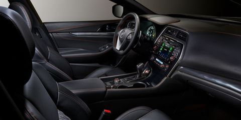 The 2019 Nissan Maximacarries over much of its interior styling from 2018 but is now available with Nissan Safety Shield 360 and 10 airbags.
