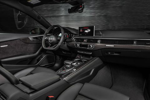 The 2019 Audi RS5 Sportback is available with Audi's virtual cockpit and a digital 12.3-inch instrument display.