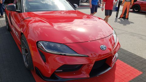 Scattered among the many displays crowding the huge expanse of Daytona International Speedway in the week leading up to NASCAR's 2019 Daytona 500 is a new Supra.