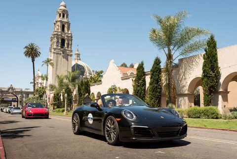 "On Saturday, April 13th, the day before the Concours, the La Jolla Tour d'Elegance presented by Porsche San Diego invited over 200 attendees to take a scenic tour of San Diego's ""most treasured collections and breathtaking landmarks."""
