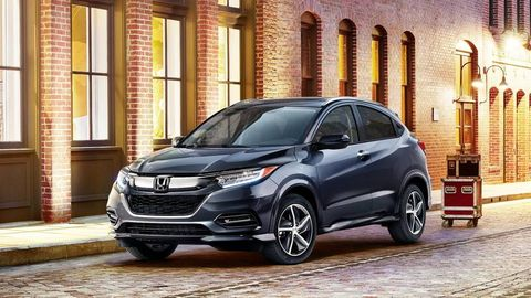 Honda HR-V -- The Honda HR-V (28/34/31 mpg) dropped its six-speed manual transmission and now comes standard with a CVT. That transmission backs up the same 1.8-liter I4 from last year, which makes 141 hp and 127 lb-ft of torque. The CVT then feeds the front wheels or all four wheels by way of an all-wheel-drive system. Honda also added variable-ratio electric power steering to the '19 HR-V, rounding out a short list of major mechanical changes.