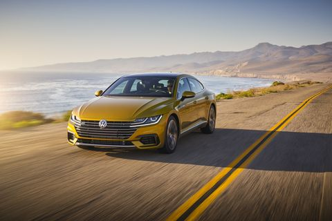 The Volkswagen Arteon is well-appointed.
