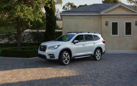 The 2019 Subaru Ascent premiered at the Los Angeles Auto Show; it will come with a new turbocharged 2.4-liter boxer engine that produces 260 hp and 277 pound-feet of torque.