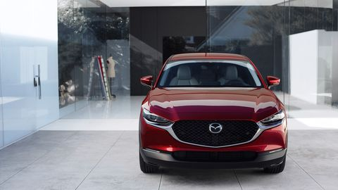 The Mazda CX-30 comes standard with a suite of driver assistance technology like radar cruise control and lane departure warning with lane-keep assist.