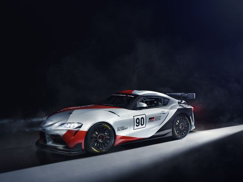 The GR Supra GT4 Concept was developed as a racing study model based on the GR Supra, TOYOTA GAZOO Racing's first global model.