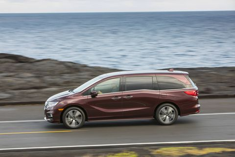 The 2019 Honda Odyssey only comes with a 3.5-liter V6 making a respectable 280 hp.