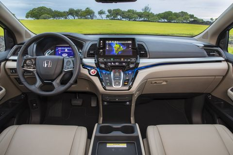 The 2019 Honda Odyssey is offered with an integrated vacuum, one of the most useful minivan additions of all time.