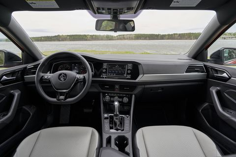 The 2019 Volkswagen Jetta S model has a $19,345 base price and includes aluminum-alloy wheels, app-connect and full LED lighting as standard.