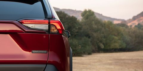 The 2019 Toyota RAV4 comes standard with front-wheel drive; all-wheel drive is optional.
