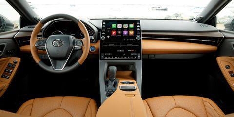 The 2019 Toyota Avalon has Lexus levels of interior materials.