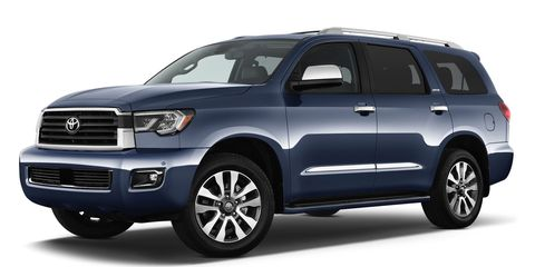 The 2019 Toyota Sequoia comes with a 5.7-liter V8 making 381 hp.