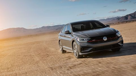 The 2019 Volkswagen Jetta GLI premiered at the Chicago Auto Show with a 2.0-liter turbo-four making 228 hp and 258 lb-ft of torque.