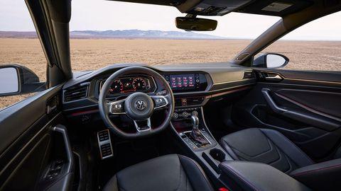 The 2019 Volkswagen Jetta GLI gets interior design cues from the Golf GTI.