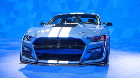 the 2020 ford mustang shelby gt500 made its debut at the 2019 detroit auto show
