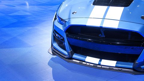 The 2020 Ford Mustang Shelby GT500 made its debut at the 2019 Detroit auto show.