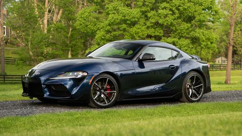 The 2020 Toyota GR Supra comes standard with a turbocharged I6 making 335 hp.