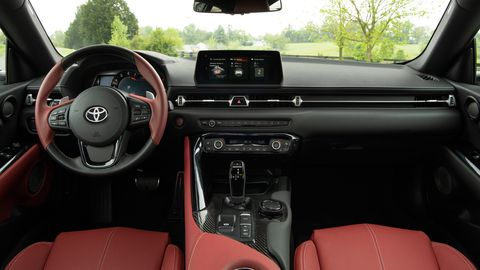 The 2020 Toyota GR Supra shares its interior with the BMW Z4.