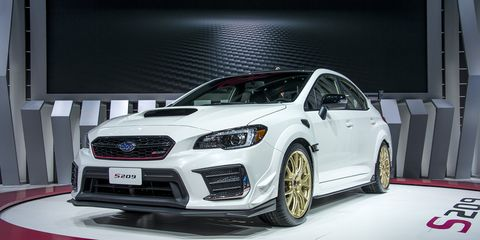 the 2020 subaru wrx sti s209 made its debut at the 2019 detroit auto show