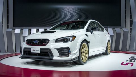 The 2020 Subaru WRX STI S209 made its debut at the 2019 Detroit auto show.