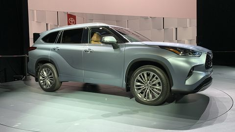 The 2020 Toyota Highlander made its debut at the New York auto show, months ahead of the start of sales.