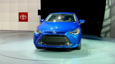 Toyota brought the 2020 Yaris to the New York auto show, ahead of the car's launch later this summer.