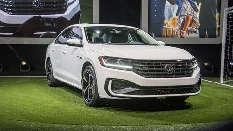 The redesigned 2020 Passat made its debut at the 2019 Detroit auto show and will go on sale later this summer.