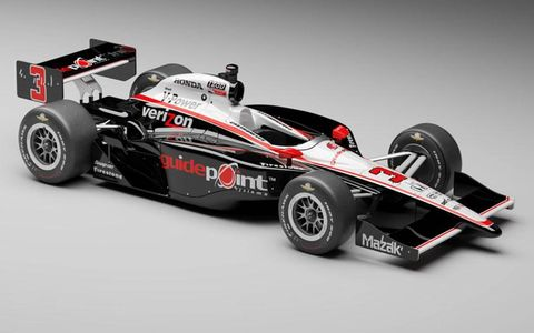 Helio Castroneves' car