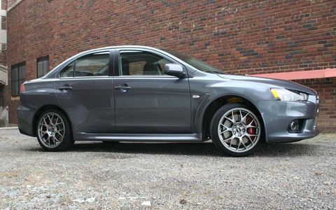 Driver's Log: 2010 Mitsubishi Lancer Evolution MR