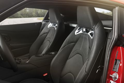 Inside the 2020 Toyota Supra. Unlike its predecessors, the new Supra trades a 2+2 layout for a two-seat configuration. The car gets an eight-speed automatic transmission that can be operated with shifter paddles.