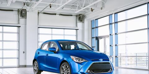 """Toyota's latest Yaris features """"cab-rearward styling"""" and packs a 1.5-liter inline-four that makes 106 hp."""