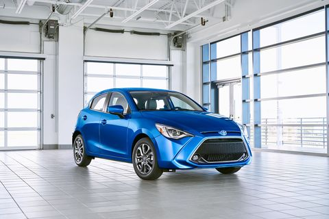 "Toyota's latest Yaris features ""cab-rearward styling"" and packs a 1.5-liter inline-four that makes 106 hp."