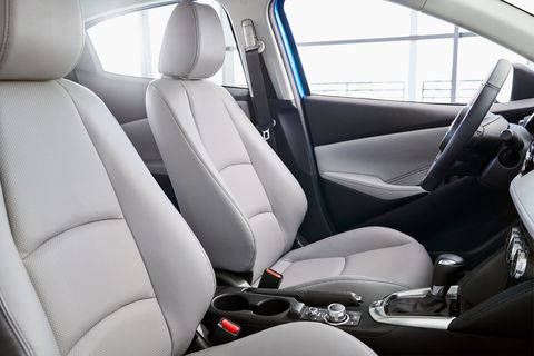The 2020 Toyota Yaris interior looks similar to the previous model year's Yaris IA, which was essentially a Mazda 2.