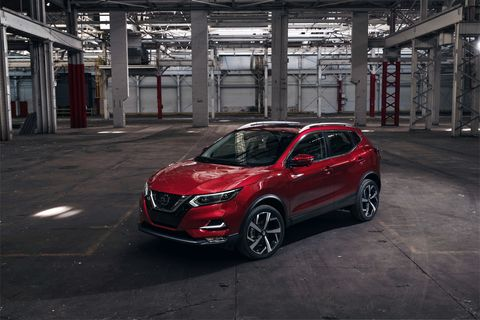 A look at the updated 2020 Nissan Rogue Sport revealed at the Chicago Auto Show