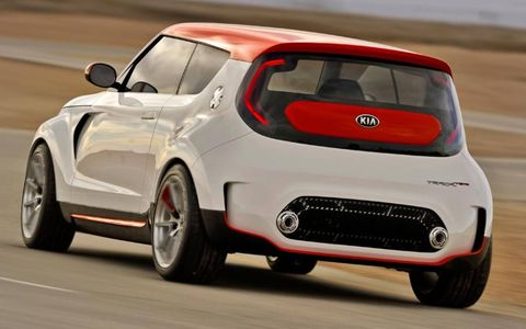 The turbocharged engine in the Kia Track'ster cranks out 250 hp.
