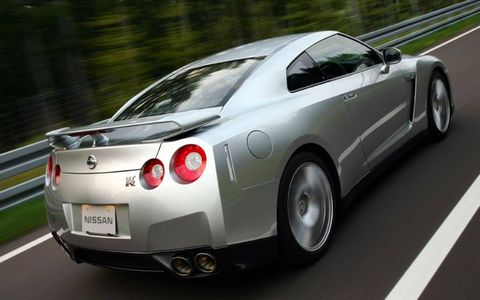 The 2010 Nissan GT-R features the iconic taillights of models past