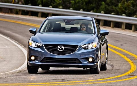 The base engine for the 2014 Mazda 6 is a 2.5-liter four cylinder making 184 hp and 185 lb-ft of torque.