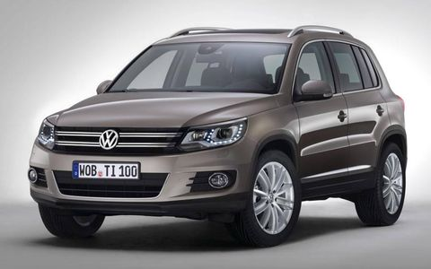 A front view of the restyled Volkswagen Tiguan.