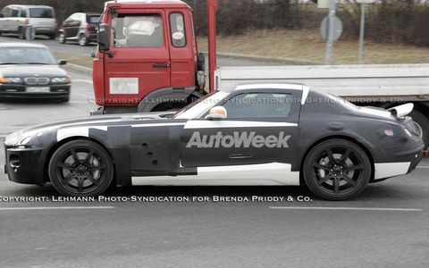 Prototype of new Mercedes-Benz super coupe.