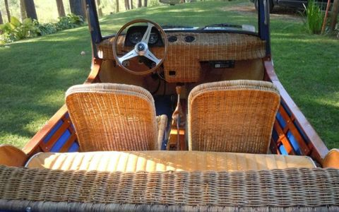 Like wicker? There's plenty on the 1969 Fiat Shellette Michelotti.