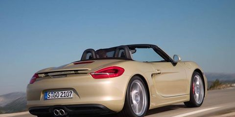 Optional 20-inch Carrera S wheels are available on the 2013 Porsche Boxster S.