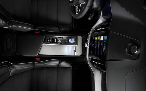 The font size on the XC60's touchscreen was increased to make it more user-friendly.