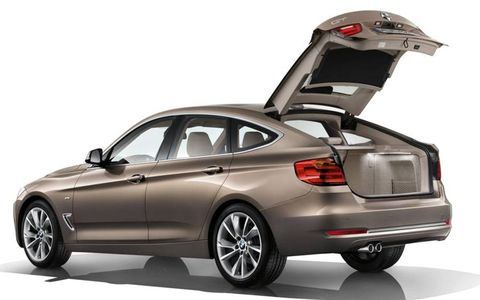 The open hatch on the 2014 BMW 3-series GT.