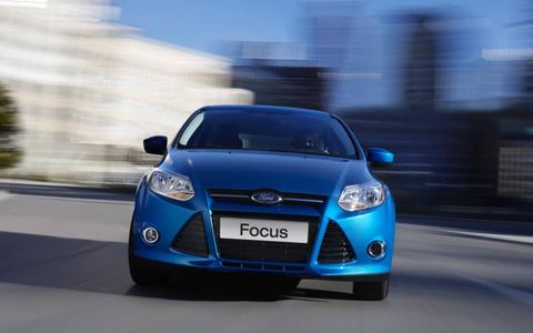 Our 2012 Ford Focus Titanium hatchback had a 2.0-liter I4 making 160 hp and 146 lb-ft of torque.